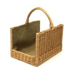 Wicker Linen Log Garden Basket