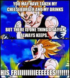 Hahahaha I love Vegeta but that is too funny.