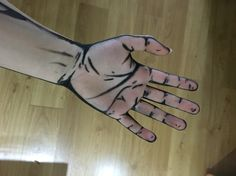 Cell shaded hand