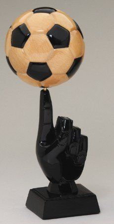 Solid Wood Soccer Ball Trophy on Fingertip Education Middle School, Soccer Art, Football Tournament, Solid Wood, Awards, Shape, Amazon, Craft, Fit