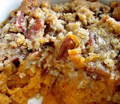 Ariane's Homemade Cravings: Ruth's Chris Sweet Potato Casserole ~ This recipe was a huge hit at our Thanksgiving table. Thanksgiving Recipes, Fall Recipes, Holiday Recipes, Great Recipes, Favorite Recipes, Thanksgiving Sides, Happy Thanksgiving, Potato Dishes, Vegetable Dishes