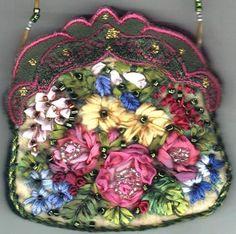 I ❤ ribbonwork . . .   Garden Purse