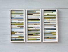 made to order framed painted wood blocks = fun modern art