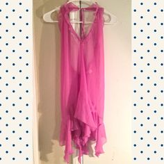 Victoria's Secret Lingerie Very feminine sheer lingerie. It is very flowy and cute! Does not include any panties. The color is a lilac/pink mix. I love it so much but it just doesn't fit me. Size medium. I can post more photos if requested! Victoria's Secret Intimates & Sleepwear Chemises & Slips