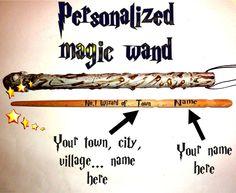 Magic Wand City Name Personalized. Custom Name Wand. Harry Potter Wizard Wands