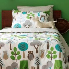 owls twin duvet set