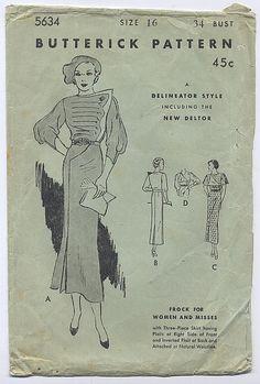 Butterick 5634 | 1930s frock