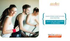 Arihant Anshula - Taloja Phase II 1, 2 & 3 BHK Mini Township Health Club with Gymnasium www.asl.net.in/arihant-anshula.html #ArihantAnshula #RealEstate #Taloja #NaviMumbai #Property #LuxuryHomes