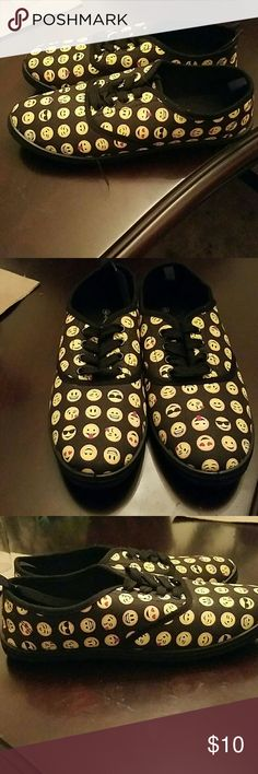 Emoji shoes Never before worn but there are no tags. The shoes say 9, but they fit like a 7 Shoes Flats & Loafers