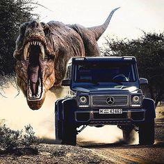 Follow us on Instagram @vplates:  Don't you hate it when this happens?! Via @carinstagram  www.vplates.com.au  #cars #dinosaur #trex #mercedes #G63 #AMG #vplates