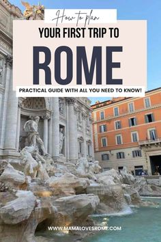 Everything you need to know about planning a trip to Rome Italy: what to see, where to stay, how to book tickets for Rome main attractions, practical tips for making the most if your first visit to Rome - by a local! Rome Tips, Rome Guide, Italy Travel Tips, Rome Travel, Travel Europe, Pompei Italy, Rome Photography, Rome Attractions, Things To Do In Italy