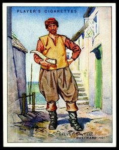 "Cigarette Card - Salvation Yeo. ""Characters From Fiction""."