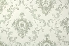 1950's Vintage Wallpaper  Victorian Floral by HannahsTreasures