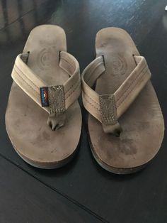 819d8a3bfb35 Rainbow Flip Flops Brown Strap Sandals Size Medium Fits 6.5 - 7.5 Womens   fashion