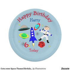 Cute outer Space Themed Birthday Party