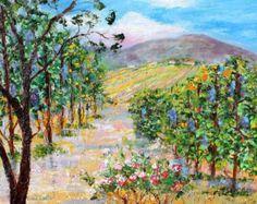 Original oil painting Meditation Pond Landscape by Karensfineart