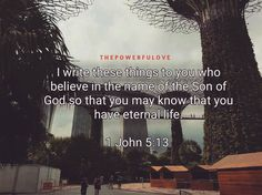 I write these things to you who believe in the name of the Son of God so that you may know that you have eternal life.  1 John 5:13  #photooftheday #justgoshot #peoplecreatives #quotesoftheday #quotes #alkitab #bible #biblequotes #bibleverse #l4l #instacool #positive #positivevibes  #positivethinking #jesus #motivasi #motivationalquotes #motivation #inspiration #inspiring #inspirasi #inspirationalquotes  #bestoftheday  #pinterest #IFTTT #IFTTT