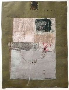 Hannelore Baron  Untitled (C-80047), 1980  Collage of paper, cloth and ink, 14 1/2 10 7/8 inches