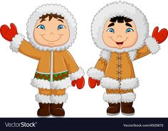 Cartoon Happy Eskimo Kids Waving Hand Stock Vector - Illustration of adorable, adult: 61163416 Cartoon Kids, Cartoon Images, Eskimo Costume, Frozen Painting, Bible Lessons For Kids, Toilet Paper Roll Crafts, Arctic Animals, Christmas Clipart, Hand Illustration