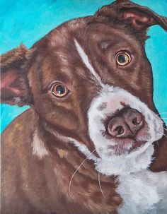 86df21b348df Acrylic personalized pet portraits custom pet painting Dog Artist, Dog  Mixes, Dog Paintings,