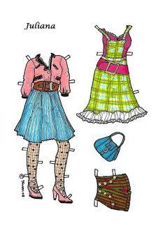 Karen`s Paper Dolls: Juliana 1-8 Paper Doll in Colours. Juliana 1-8…