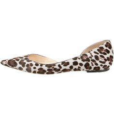 Pre-owned Jimmy Choo Pointed-Toe Flats ($175) ❤ liked on Polyvore featuring women's fashion, shoes, flats, brown, leopard print pointed toe flats, jimmy choo flats, jimmy choo shoes, cream flats and pointy toe leopard flats