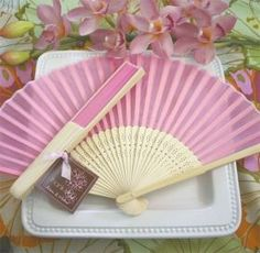 Pink Silk Wedding Fans are perfect for a Summer wedding. Wedding fan favors are a practical and pretty favor that will keep your guest cool during the wedding. Summer Wedding Favors, Homemade Wedding Favors, Creative Wedding Favors, Inexpensive Wedding Favors, Cheap Favors, Wedding Favours, Wedding Gifts, Summer Weddings, Party Favours