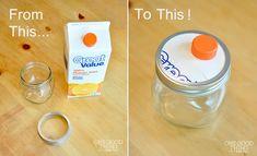 Easy Mason jar into a dispenser hack   #DIY #MasonJar #dispenser #Jar