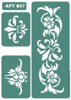 Трафарет 057 - зелёный,трафарет,трафареты,материалы для творчества,Декупаж