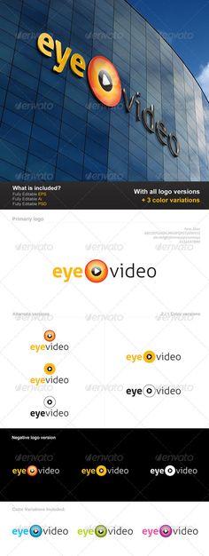 Eye Video - Logo Design Template Vector #logotype Download it here: http://graphicriver.net/item/eye-video-logo/2830834?s_rank=396?ref=nexion