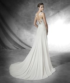 Cool Pronovias ue PRADAL Wedding dress encrusted with gemstone embroidery and sweetheart neckline