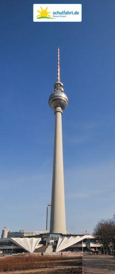 Der Fernsehturm. www.schulfahrt.de #Berlin #Fernsehturm #Wahrzeichen
