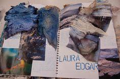 Nicole Heslop DHSFG Textiles Textiles Sketchbook, Sketchbook Pages, Fashion Sketchbook, Sketchbook Ideas, Fashion Sketches, Beach Themed Art, A Level Textiles, Textile Texture, A Level Art