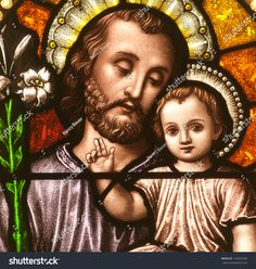 Image result for glass window jesus as a boy