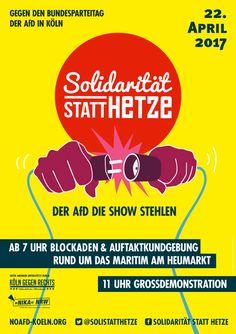 Aufruf der bundesweiten Kampagne. Aktuelle Infos zu den geplanten Protesten auf noafd-koeln.org Am 22. und 23. April will die AfD ihren Bundesparteitag im
