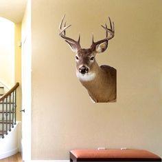Deer Head Decal Design - Wall Murals - Primedecals