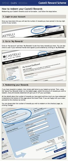 How to Redeem Rewards from @CastelliUK (by @jrtecommerce) | Showcase: www.sweettoothrewards.com/client-showcase