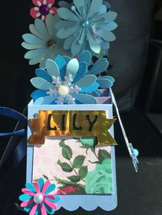 Cricut all occasion box card flowers handmade by me