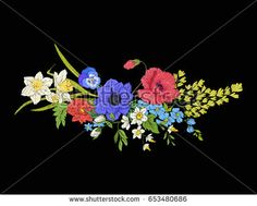 Image result for bouquet of poppies davedills forgetmenots