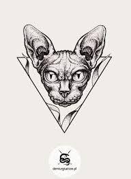 Znalezione obrazy dla zapytania sphynx tattoo cat