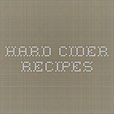 Hard Cider Recipes