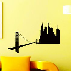 Items similar to Wall Decals San Francisco SF City Skyline Silhouette Decal Sticker Vinyl Decals Wall Decor Murals on Etsy Sticker Vinyl, Vinyl Wall Decals, Sky Nursery, Skyline Silhouette, Countries Of The World, Textured Walls, Night Skies, Picture Show, Murals
