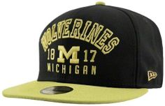 lowest price db481 50be5 New Era Michigan Wolverines Word Knock Fitted Hat