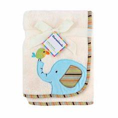 Garanimals Animal Antics Embroidered Elephant Fluffy Fleece Blanket - Walmart.com