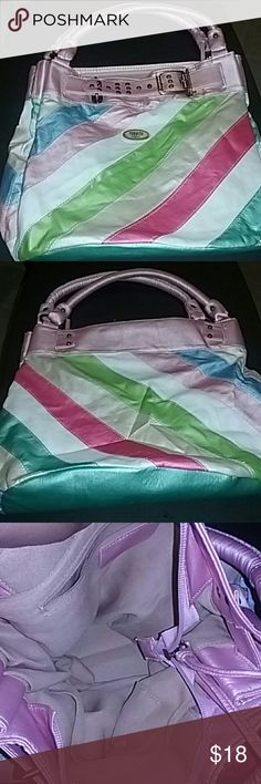 "Big 15 ""  inch big nice purse New without tag Colorful look just like on pic Bags Shoulder Bags"