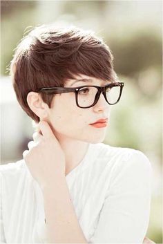 Glasses and hair... Gah I miss my pixie