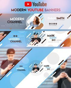 Modern YouTube Banner by youtubebanners Youtube Banner Design, Youtube Banner Template, Youtube Design, Youtube Banners, Header Banner, Web Banner, Social Media Branding, Social Media Design, Youtube Banner Backgrounds