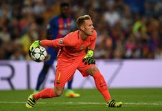 Marc-Andre ter Stegen of Barcelona in action during the UEFA Champions League Group C match between FC Barcelona and Celtic FC at Camp Nou on September 13, 2016 in Barcelona, Catalonia.