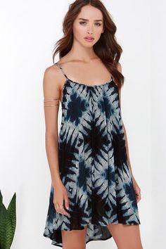 d016f3de1c1 Amuse Society Opal Blue Print Dress