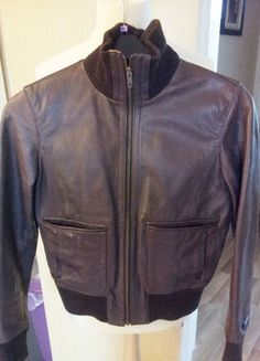 Buy here at #vinteduk http://www.vinted.co.uk/womens-clothing/leather-jackets/4027687-next-leather-bomber-biker-jacket-size-10-ladies-womens-brown